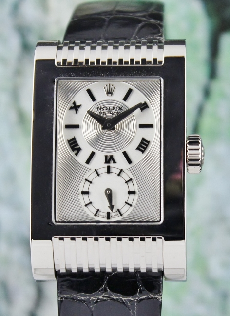 LIKE NEW UNPOLISHED ROLEX 18K WHITE GOLD CELLINI PRINCE / 5441/9