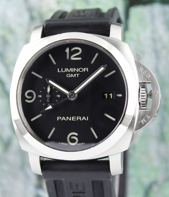 "Panerai Luminor 1950 3 Days GMT Automatic Watch / PAM 320 ""P"" Series"