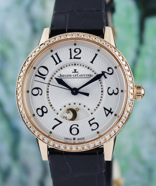 JLC Rendez-Vous Day & Night 18K Rose Gold Automatic Watch / Q3442420.