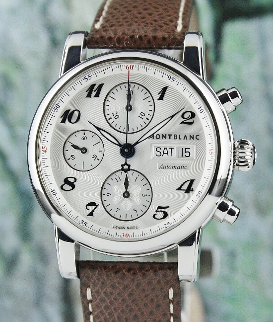 A MONT BLANC MEISTERSTUCK DAY-DATE CHRONOGRAPH