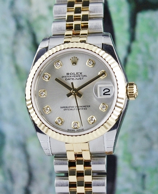 UNWORN ROLEX MID SIZE TWO TONE OYSTER PERPETUAL DATEJUST / 178273