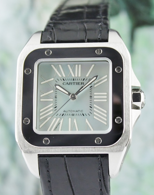 LIKE NEW CARTIER MEDIUM SIZE SANTOS 100 / 2878 / MOP