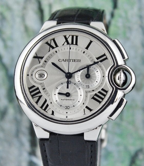Cartier Ballon Bleu XL Stainless Steel Automatic Mens Watch / W6920003