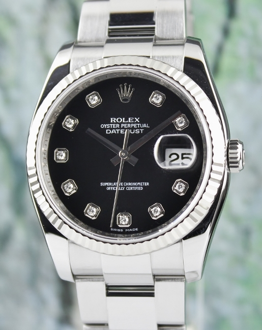 A ROLEX DATEJUST MEN SIZE OYSTER PERPETUAL - 116234