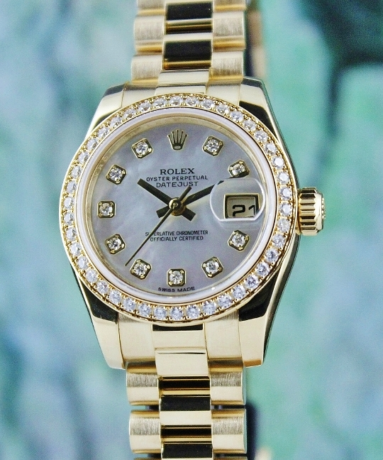 100% ORIGINAL ROLEX 18K YELLOW GOLD OYSTER PERPETUAL DATEJUST / 179138