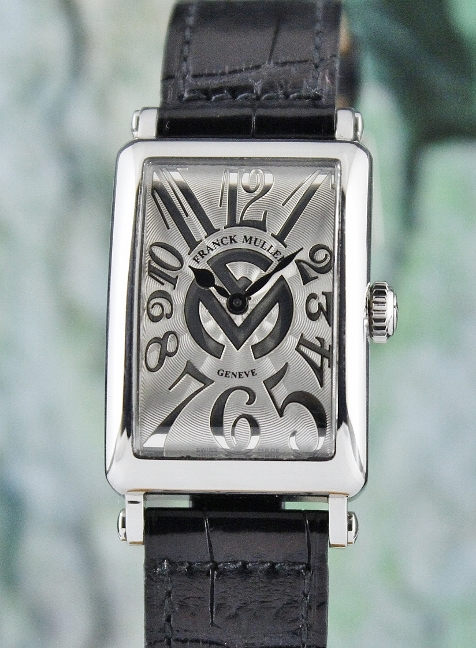 "FRANCK MULLER STAINLESS STEEL LONG ISLAND ""RELIEF"" / 902 QZ REL FM"