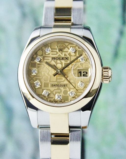 ROLEX LADY SIZE OYSTER PERPETUAL DATEJUST - 179163