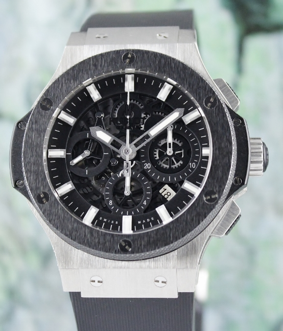 A HUBLOT STAINLESS STEEL AERO BANG / 311.SM.1170.GR