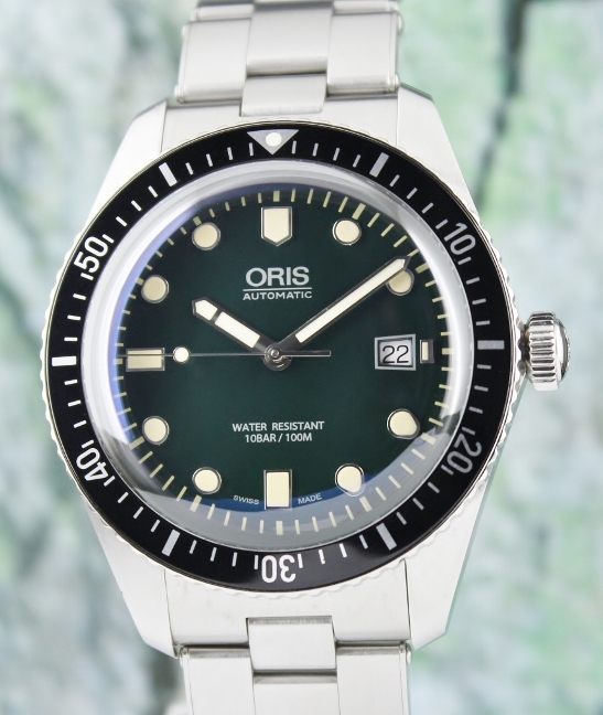 Like New Unpolished Oris Divers Sixty-Five 42mm Green Dial / 01 733 7720 4055-07 8 21 18