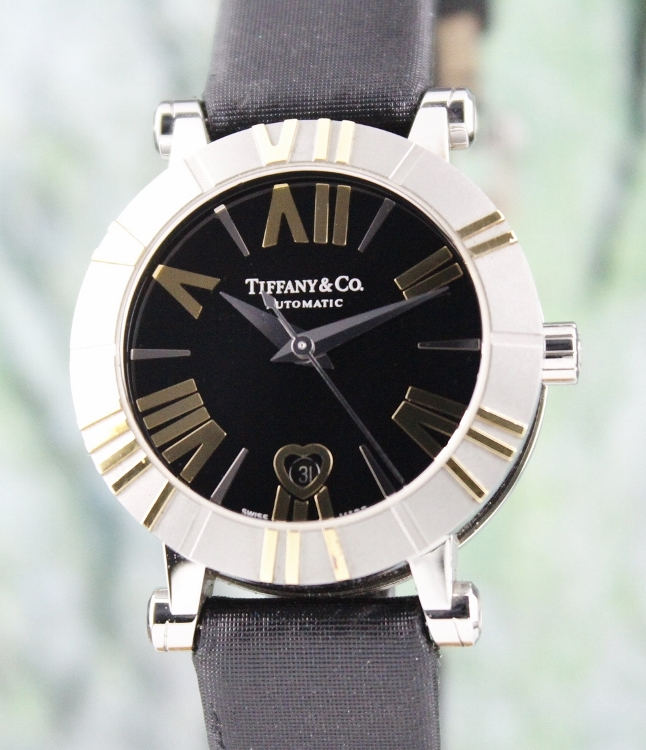Tiffany & Co Atlas Stainless Steel and 18K Yellow Gold Automatic Watch