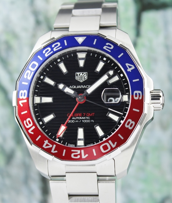 LIKE NEW TAG HEUER AQUARACER CALIBRE 7 GMT /WAY201F