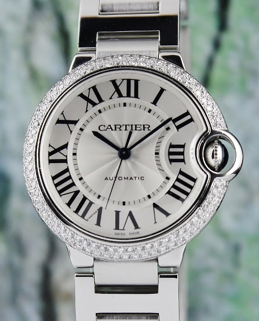 Cartier Ballon Blue Stainless Steel Automatic Watch / 3284