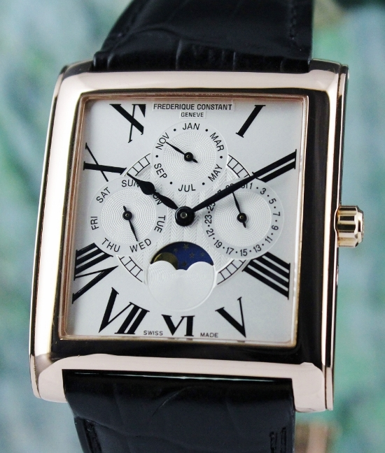 A FREDERIQUE CONSTANT 18K ROSE GOLD FILLED WATCH