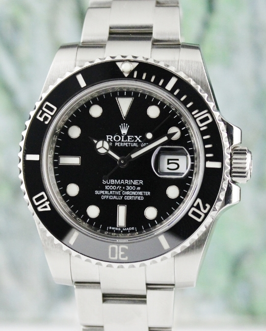 ROLEX CERAMIC OYSTER PERPETUAL DATE / SUBMARINER 116610LN