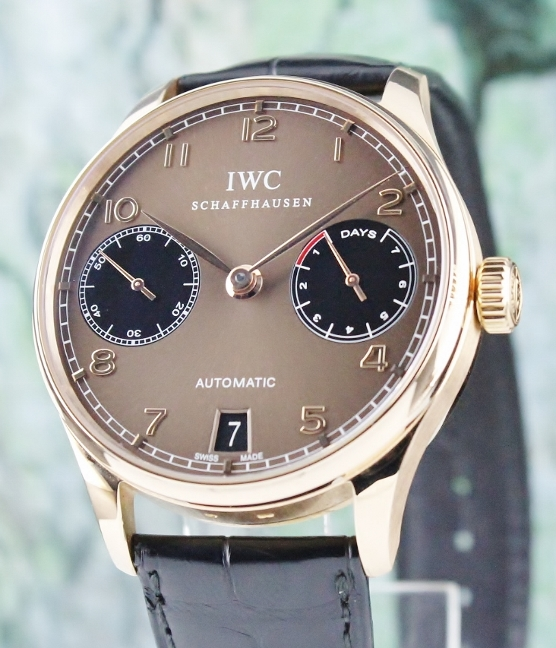 Rare IWC Portuguese 7 Days 18K Rose Gold Limited Edition Copper Dial / IW500124