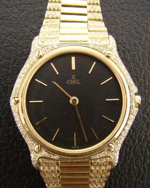 EBEL 18K YELLOW GOLD WITH FULL DIAMOND