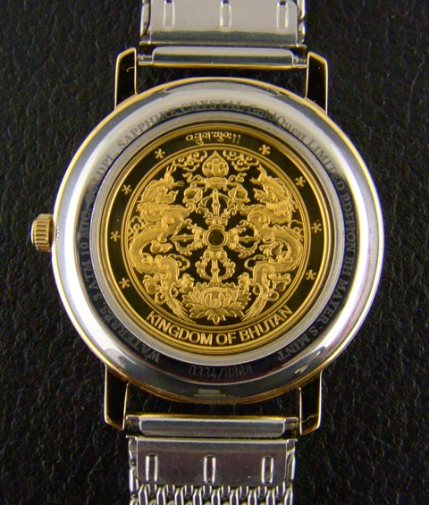 "Gold Crest Watch With ""999.9"" Pure Gold Dial - Men Size"