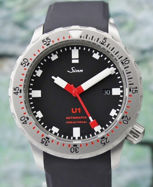 LIKE NEW SINN U1 DIVER'S AUTOMATIC WATCH / 1010.010-U1-R